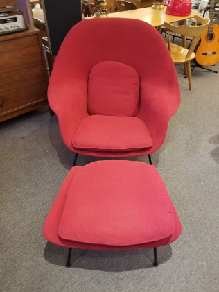 1950's Knoll Womb Chair and Ottoman